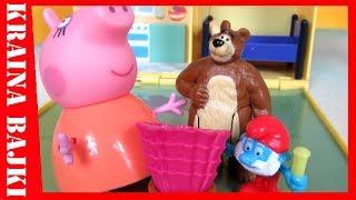 BAJKA • Świnka Peppa & Masza i Niedźwiedź vs Smerfy • UKŁUCIE PRZEZ TAJEMNICZĄ RÓŻĘ