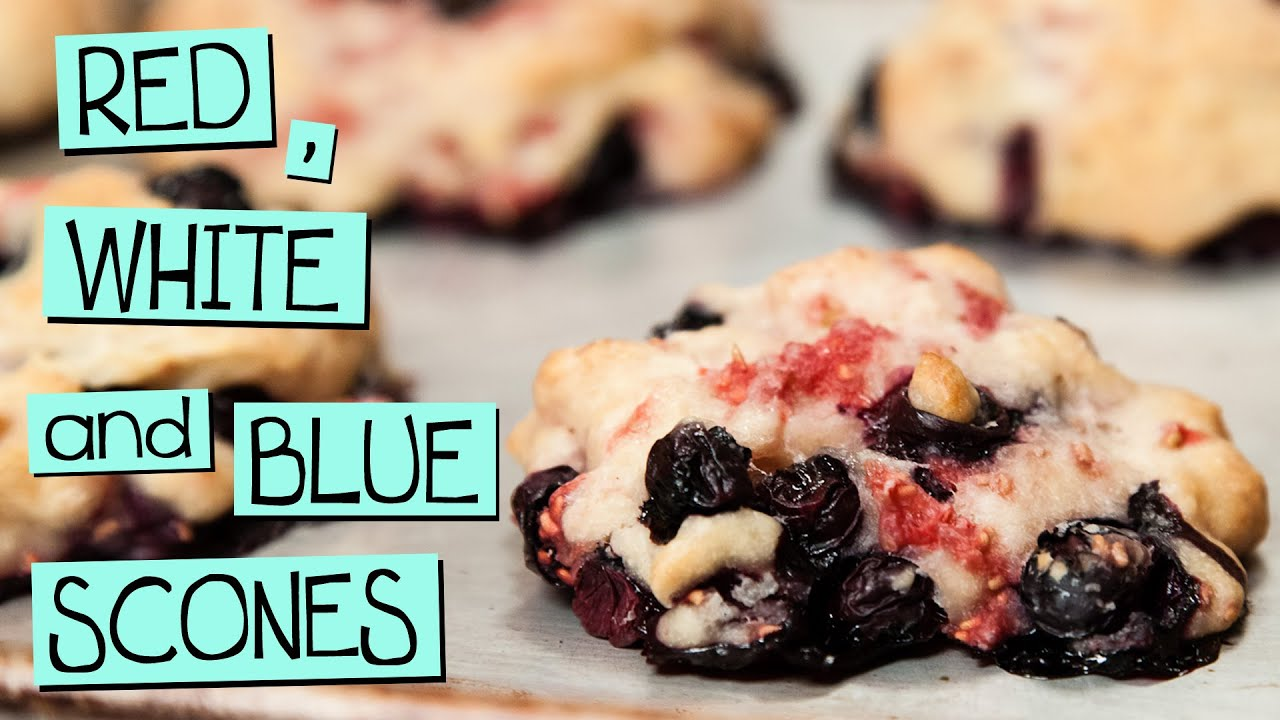 Red, White and Blue Scones - YouTube