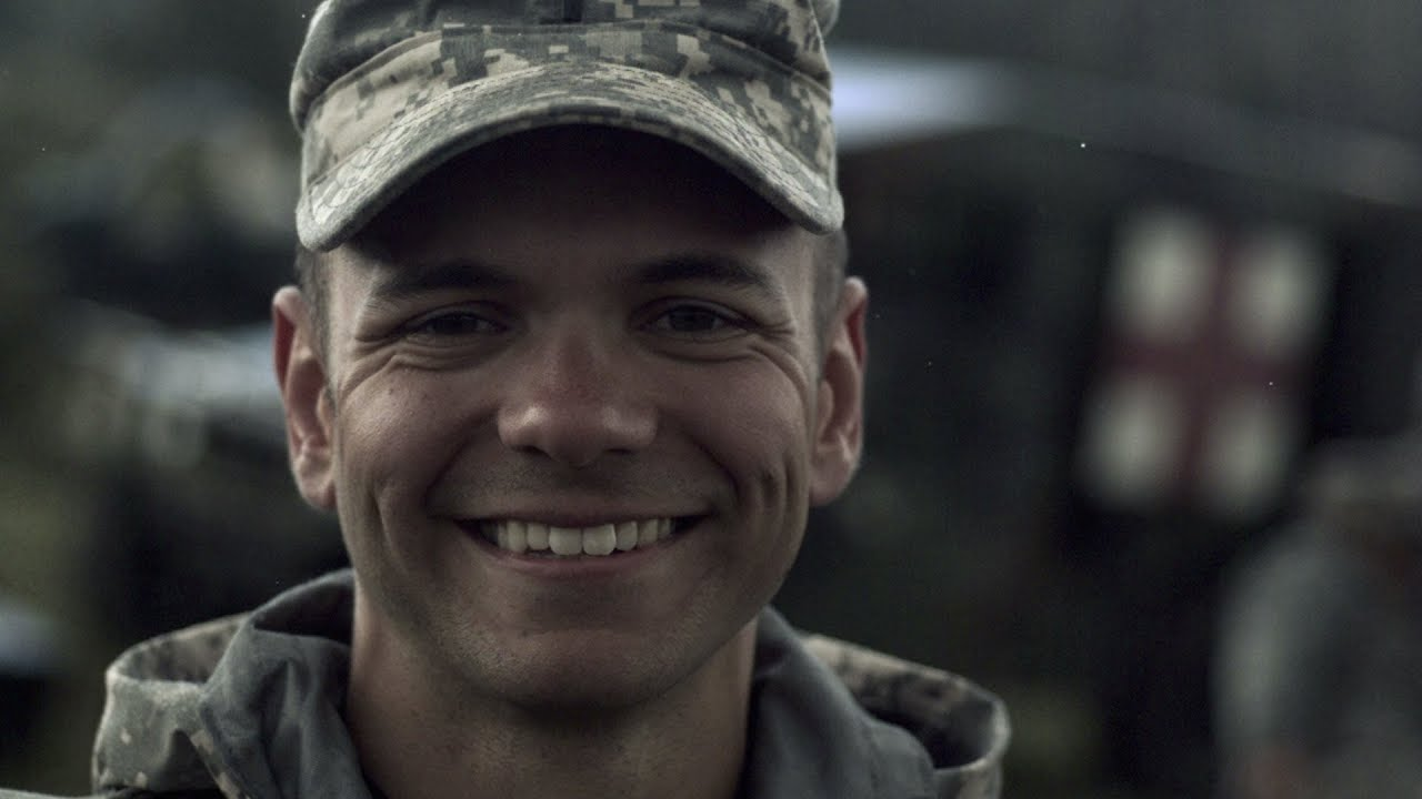 Free Snow Falling Wallpaper Slow Motion Clip Of Soldier Smiling While Snow Falls