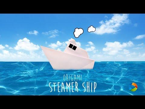 DIY: Origami Steamship