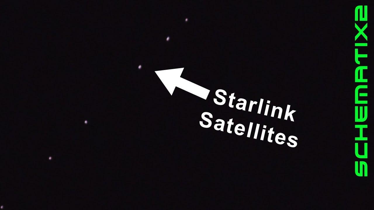 StarLink Satellites zoom overhead