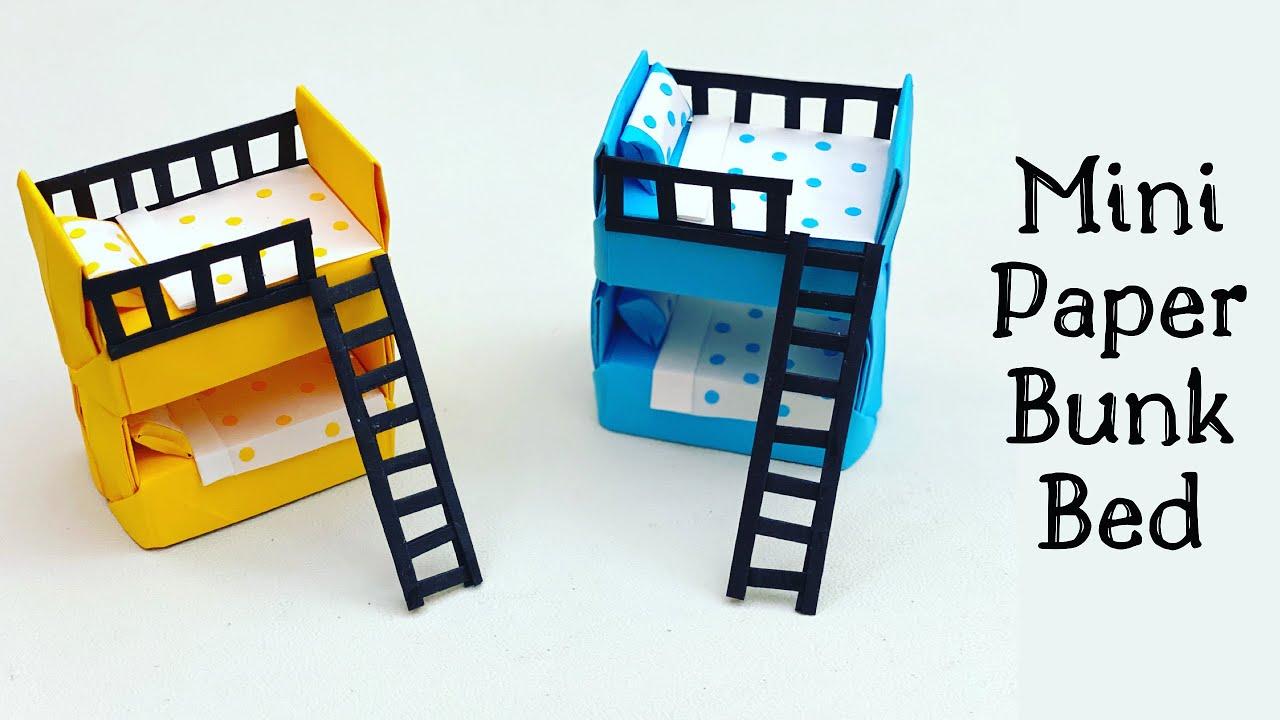 diy mini paper bunk bed diy doll bunk