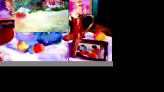This Video Previously Contained A Copyrighted Audio Track. Due To A Claim By A Copyright Holder, The Audio Track Has Been Muted.     Shigeko's Oil Paintings