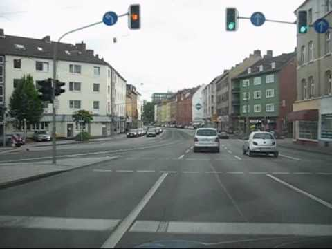 Driving in Kassel, Germany (North-South)