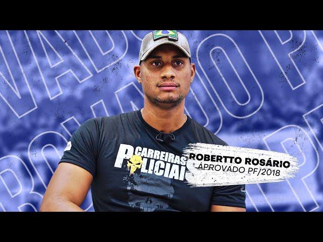 """""""Eu sou fruto da educação"""" - Robertto Rosário - Policial Federal - AlfaCon"""