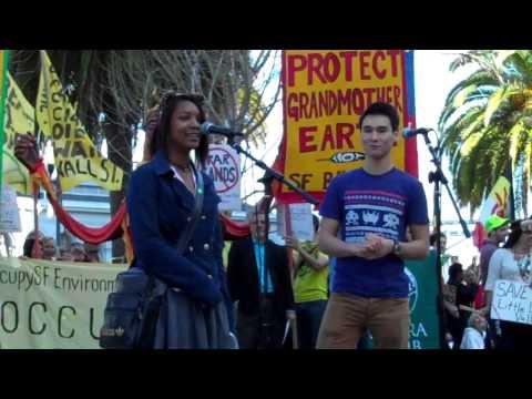 Olivia Robinson & Shadi Barhoumi speak at SF Forward on Climate Rally