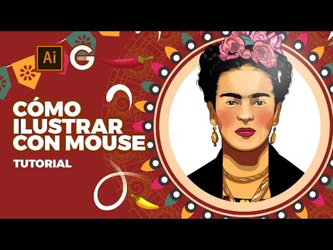 Illustrator Tutorial   Cómo Ilustrar con Mouse (Frida Kahlo)   How to Draw with Mouse thumbnail