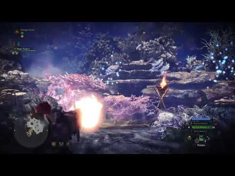 Grass reacts depending on your shot power in Monster Hunter World