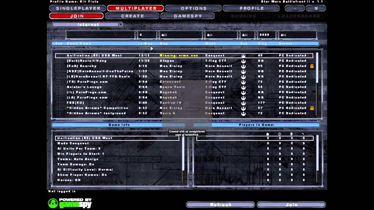 Servers & Map menu? — STAR WARS™ BATTLEFRONT™