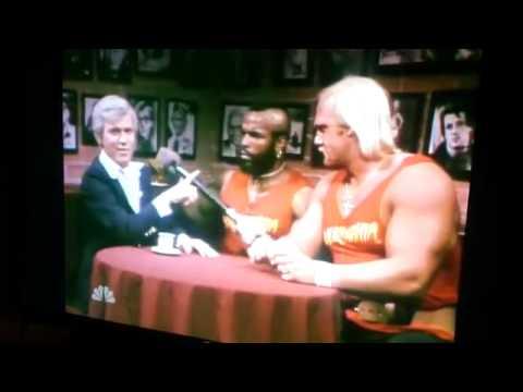 Mr  T and Hulk Hogan on Saturday Night Live