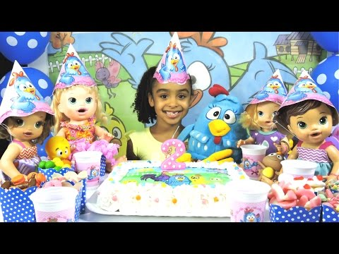 2 Anos de Canal Festa de Aniversario Galinha Pintadinha Surpresas Baby Alive