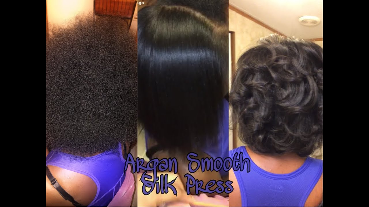 Argan Smooth Silk Press On Natural Hair