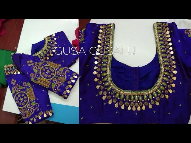 maggam works latest designs | new blouses designs | Simple back neck models | aari | kasulu work