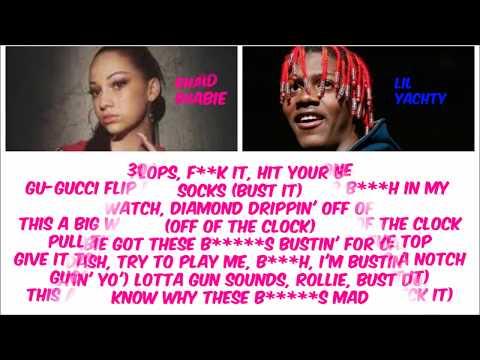 6889eda2fe22f3 Bhad Bhabie ft Lil Yachty - Gucci Flip Flops (Clean) (Lyric Video ...