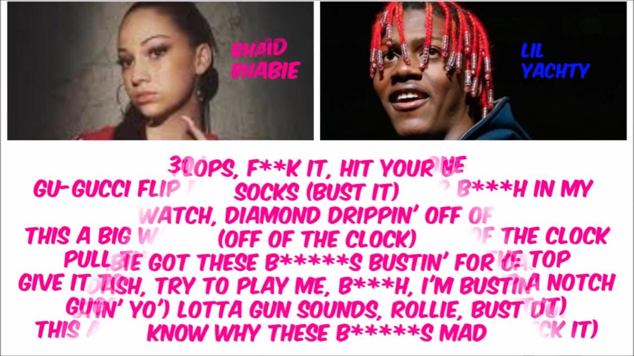 4dfd9aa4d5913b Bhad Bhabie ft Lil Yachty - Gucci Flip Flops (Clean) (Lyric Video ...