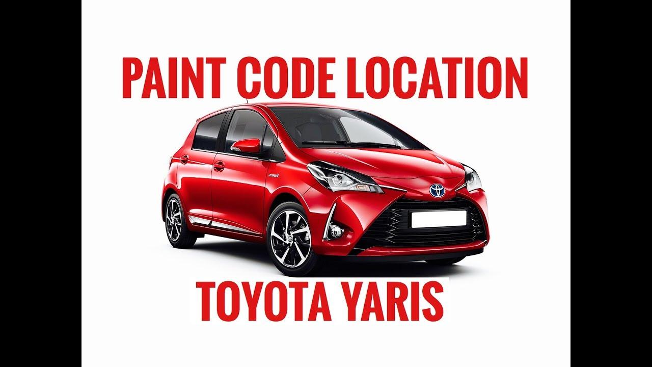Toyota Paint Color Codes