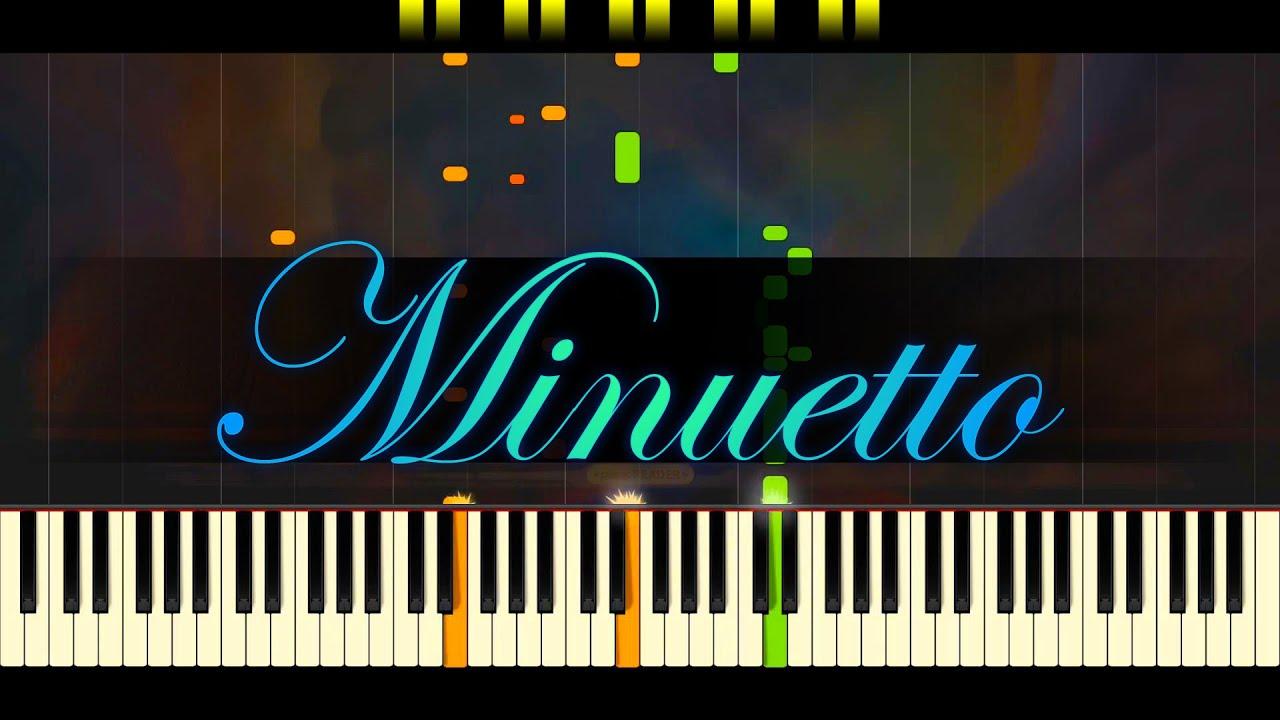 boccherini minuetto easy piano sheet music pdf