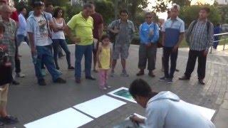 NO VAS A CREER LO QUE HACE ESTE JOVEN | Arte en las calles | Video increible 2016