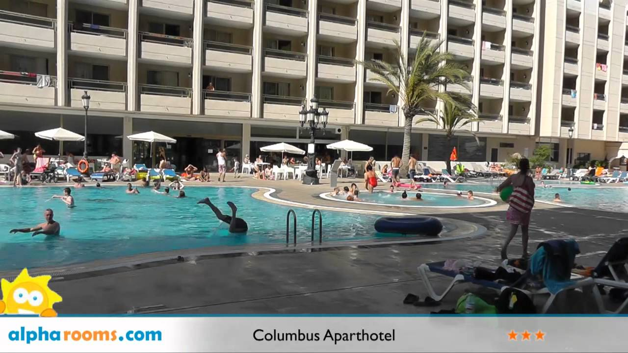 Columbus aparthotel playa de las americas youtube for Aparthotel jardin de playa