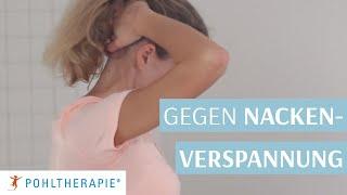 Übung gegen Nackenverspannung: Selbstpandiculation des Nackens