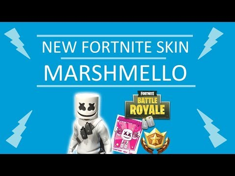 *NEW* MARSHMELLO FORTNITE SKIN - REACTION AND GAMEPLAY