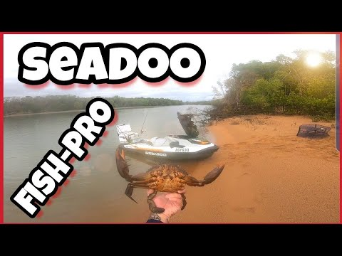 Catching Mud Crabs On A Seadoo Fish Pro Jet Ski!!!