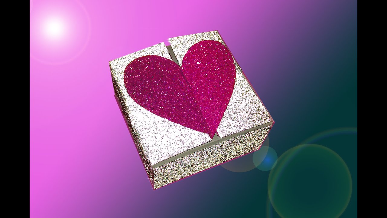 Heart Box With Two Locks For Valentines Day NO Templates