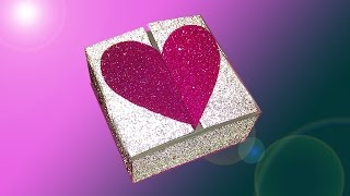 Heart box with two locks for Valentine's day.  NO templates! Caja corazón!