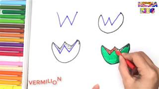 How To Draw and Color a Watermelon Easy Steps By Step ✅How To Teach Baby To Speak English