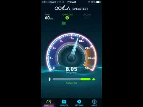 Sprint 4G LTE Speed Test Seattle, WA