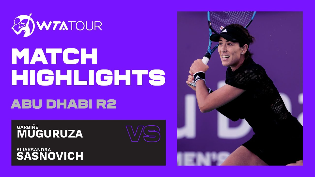 Aliaksandra Sasnovich vs. Garbine Muguruza | 2021 Abu Dhabi Second Round | WTA Highlights