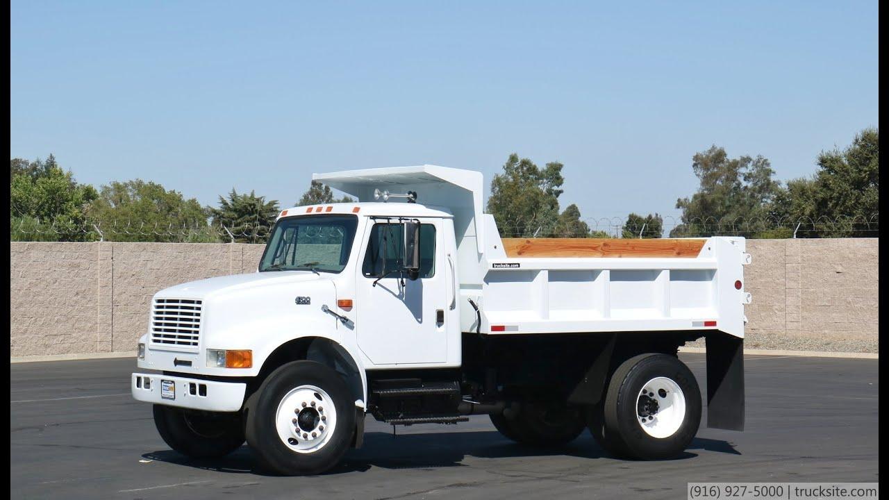 2000 International 4700 5 7 Yard Dump Truck Youtube
