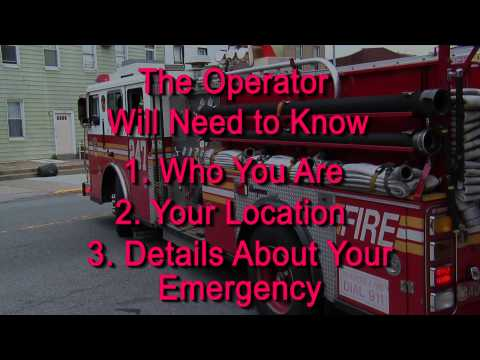 Practice a 911 Call - YouTube