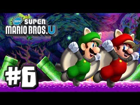 New Super Mario Bros U Wii U - Part 6 World 5-Airship, 5-1, 5-2, 5-3, 5-Tower, 5-Boo House, & 5-4