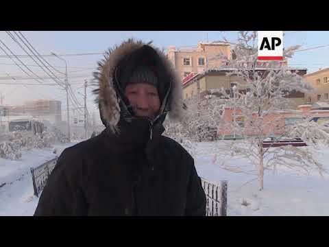 Extreme cold in Russia as temperatures drop to -65C