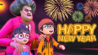 Scary Teacher 3D - (Special Chapter) Happy New Year!!! - Nick and Tani BuzzStar Animation