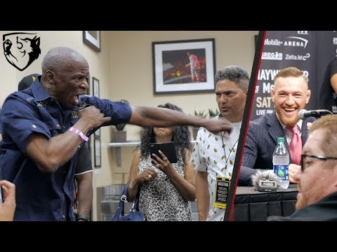 Floyd Mayweather Sr. vs Conor McGregor Trash-Talking at Press Conference