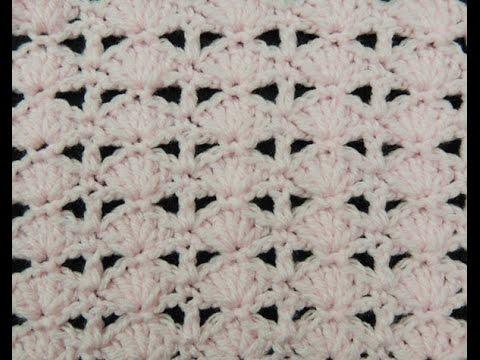 Crochet: Punto Abanico # 11 - YouTube