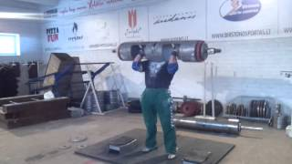 Саулиус Брусокас логлифт 150 кг на 8 раз, подготовка к KRINICA CUP 2014