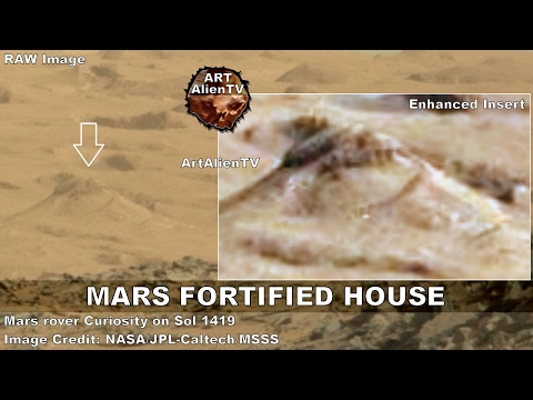 #Mars Fortified House, Towers & Buildings: City Ruins. ArtAlienTV