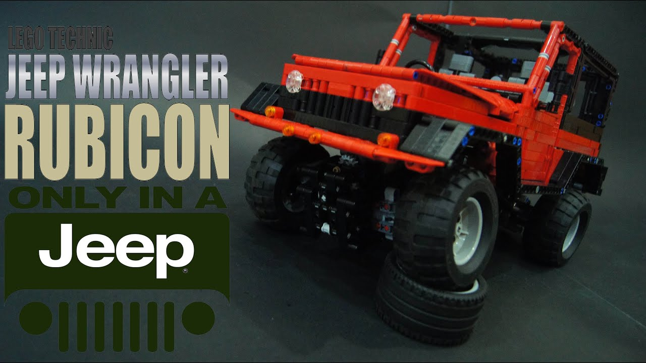 lego technic rc jeep wrangler rubicon youtube. Black Bedroom Furniture Sets. Home Design Ideas