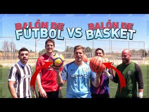 BALÓN DE FÚTBOL VS BALÓN DE BASKET | RETOS DE FÚTBOL