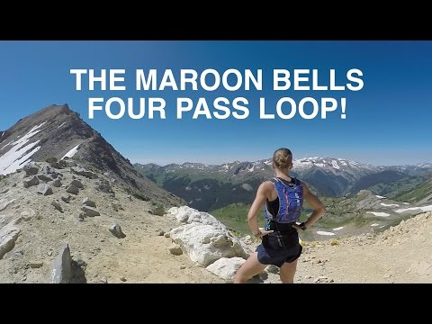 FOUR PASS LOOP RUN: MAROON BELLS, COLORADO TRAILS !