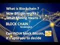 HINDI - How blockchain, bitcoin works ? How is mining helpful