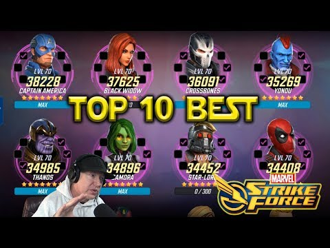 Top 10 Best Characters - Dec 2018 - Marvel Strike Force -MSF