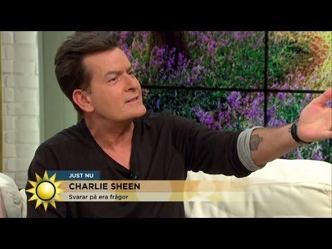 Charlie Sheens svenska raggningsreplik - Nyhetsmorgon (TV4)