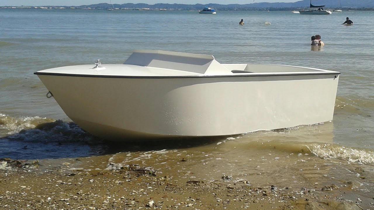 Home Built Plywood Mini Jet Boat - YouTube