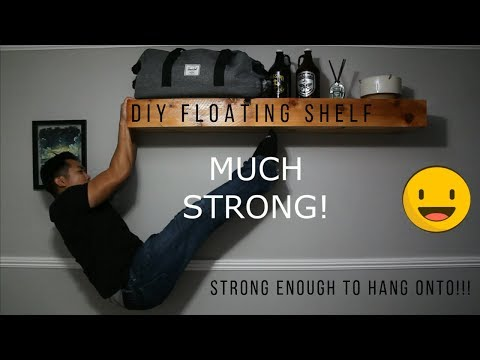 How I Made A Floating Shelf Strong Enough To Hang Onto
