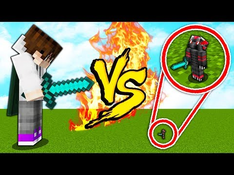 So I tried to 1v1 the WORLD'S SMALLEST Minecraft player... |