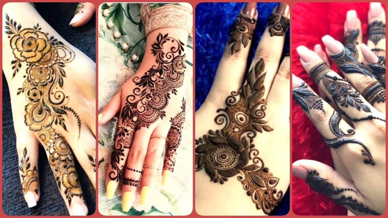 Top Trendy Stylish Easy Mehndi Designs Simple Arabic Henna